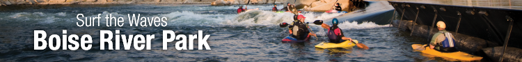 Surf the waves at the Boise River Park