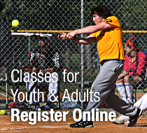 Register for recreation classes online